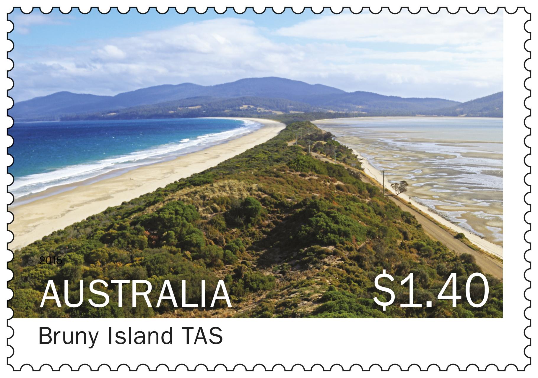 Bruny Island Tasmania stamp